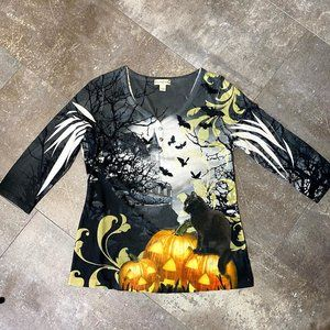 Halloween Top w/ All Over Print